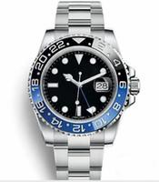 Wholesale watches designers resale online - New GMT Ceramic Bezel Luxury Mens Mechanical SS Automatic Movement Watch Sports Master Watches Men Designer Wristwatches btime