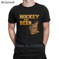 hohe kragen tops designs großhandel-Hockey und Bier T-Shirt Runder Kragen Hohe Qualität Original Die neuen T-Shirts Familie Hiphop Tops Sommer Style T-Shirt Designs