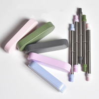 Wholesale stainless steels for sale - Group buy Fold Telescopic Drinking Straw Stainless Steel Food Grade Reusable Straws With Storage Box Eco Friendly tc E1
