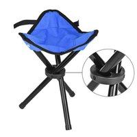 banco de dobramento de tripé venda por atacado-Pop Up cadeira portátil leve Folding Camping Caminhadas dobrável Stool tripé Chair Assento Para Pesca Festival Picnic churrasco Praia