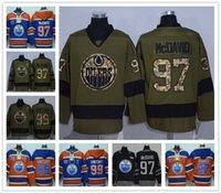 Wholesale edmonton oiler jerseys for sale - Group buy Edmonton Oiler DRAISAITL Connor McDavid Wayne Gretzk Orange Hockey Jerseys Ice JERSEYS