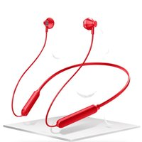 Wholesale wireless handsfree samsung online – Wireless Bluetooth Headphones Sports Bluetooth Stereo Heavy Bass In Ear Headset HIFI Hanging Ear Handsfree With Mic Neck Mounted Earbuds
