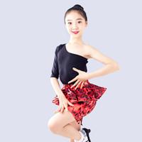 ingrosso vestiti rumba-Vestito da ballo latino per bambini Vestito da bambino con manico Rumba One Vestiti per bambini Performance Tango / Rumba DQL1308