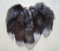pele de raposa de prata real venda por atacado-10 pcs 16