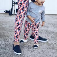 leggings de navidad para niños al por mayor-Mom niñas Leggings familiares más apretados pantalones elásticos de Bodycon de Halloween Navidad de impresión medias para niños Pantalones del copo de nieve del mono del tigre flora 3D
