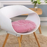 Wholesale home stool resale online - Cotton Linen Office Chair Cushion Round Seat Pad For Dining Stool Chair Back Pillow Coussin For Home Sofa Decorative Cushions