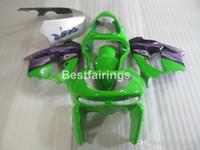 Wholesale custom painted kawasaki ninja for sale - Group buy Free custom paint body parts fairing kit for Kawasaki Ninja ZX9R green purple fairings set ZX9R YW26