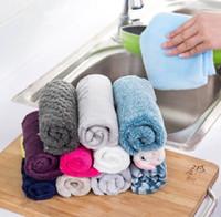 салфетка для чистки микрофибры оптовых-Чистка кухни обтирая тряпки бамбуковая ткань тарелки волокна Абсорбциа воды анти -- тавот цвет микрофибры волшебный моя полотенце соскабливая пусковая площадка