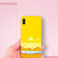 handgemalter apfel großhandel-XS MAX 7 6S plus Korea handgemaltes Landschaftsapfel XR-Handyoberteil 5 iphone8 x weiches Paket Art.-Nr.