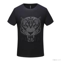 tigre pequeno venda por atacado-Newst marca de luxo bordado t camisas para homens itália moda camisa homens high street cobra little tiger print tee medusa camisetas