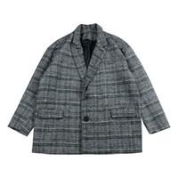 ingrosso giappone cappotto stile uomini-Giacca girocollo casual girocollo grigio caffè cappotto uomo rivestimento soprabito 2018 Giacca girocollo casual stile giapponese gattoporno invernale Giappone