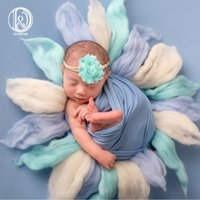 Wholesale baby shower baskets for sale - Group buy Handcraft Wool Layer Blankets Photo Session Patchwork Newborn photography Blanket Newborn Basket Stuffer BABY SHOWER GIFTMX190910