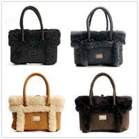 ingrosso sacchetti di tote cachi-Nuove in Australia totes del progettista dei sacchetti di tendenza di lusso per le borse delle donne Black Grey Brown Khaki inverno lane di modo Totes Borse