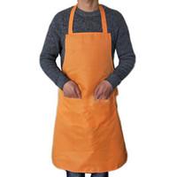 ev önlükleri toptan satış-Tencere Parçası Klasik Mağaza Pişirme Önlük Pişirme Kalınlaşmak Pamuk Polyester Çift Cep Ev Temizlik Kolsuz Önlük