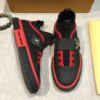 diseños de zapatos de cuero italiano al por mayor-2019 nueva marca italiana de alta calidad para hombre zapatos casuales para hombre zapatos deportivos de cuero tejido elástico diseño moda para hombre zapatos planos originales qw