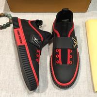 italyan deri ayakkabı tasarımları toptan satış-2019 yeni İtalyan marka yüksek kalite erkek rahat ayakkabılar erkek spor ayakkabı deri streç kumaş tasarım moda erkek düz ayakkabı orijinal qw