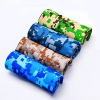Wholesale set color towels resale online - Printed camo cooling towel color cool sports towel outdoor sports yoga fitness towel Camouflage free FEDEX TNT