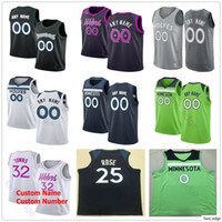 Printed Custom Top Quality Andrew 22 Wiggins Jeff 0 Teague Derrick 25 Rose Karl-Anthony 32 Towns 20 Josh Okogie Basketball Jersey