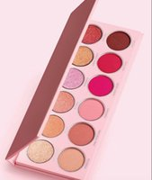 12 color eyeshadow palette venda por atacado-Drop shipping! 2019 New Eye maquiagem The Valentine Eye Paleta Sombra paleta de pó pressionado 12 cor da sombra highlighter
