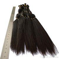Wholesale 18 inch blonde braiding hair resale online - Hair Bulk for Braiding Virgin Remy Blonde Color g peruvian color virgin blonde human hair bulk