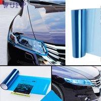 faros envueltos en vinilo al por mayor-Pegatinas para automóviles Faros antiniebla Lámina protectora Vinyl Wrap Overlays Sheet para TODOS los automóviles jy6