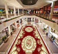 tapetes vermelhos venda por atacado-Nordic Red Carpet Corredor Área Rugs Quarto Sala Pavimento Mats Stair Carpet Mat Home Hotel Decor Tapetes Custom Made