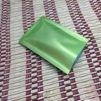 embalagem de saco de plástico pequena venda por atacado-200 pcs 7 * 10 cm folha de alumínio verde saco de topo aberto vácuo mylar plástico embalagem de energia saco de selo de calor válvula pequena embalagem saco