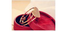 ingrosso cuore sud-Braccialetto a forma di cuore glassato sudcoreano con la fabbrica all'ingrosso dei gioielli del braccialetto del doppio cuore per JM002pf