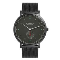 relógio de trabalho venda por atacado-2019 marca nomos homens de quartzo relógio de luxo casual homens relógios de aço inoxidável relógio masculino pequenos mostradores de trabalho relogio masculino homens relógios de quartzo