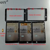 Wholesale nexus display frame for sale - Group buy LCD display Touch Digitizer Screen Assembly with frame flex cable for Google Nexus nexus7 ME370TG nexus7c me370T