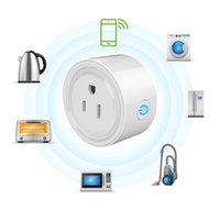 interruptor de salida wifi al por mayor-Mini Smart Home WIFI Enchufes de alimentación Compatible con Alexa Sonoff Wifi Socket Outlet Automatización Aplicación de teléfono Interruptor de tiempo Control remoto Control de EE. UU.
