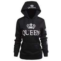 könig sweatshirts großhandel-Damen Kleidung Designer Paar Hoodies Lässige Hooded QUEEN KING Printed Sweatshirts Pullover