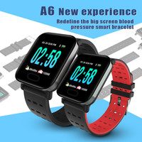 Wholesale grass box for sale - Group buy A6 Fitness Tracker Wristband Smart Watch Colorful Touch Screen with Heart Rate Smart Watch for Android IOS Cellphones ID115 B57 with Box