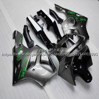 motorrad plastik sets großhandel-23colors 5Gifts silvergray Motorradverkleidung für KAWASAKI ZX6R 1994 1995 1996 1997 ABS Plastic Bodywork Set