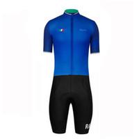 mono deportivo para hombre al por mayor-Rapha Triathlon Suit Men Pro Team manga corta Ciclismo Ropa Skinsuit Mono Bike Jersey Conjuntos Deporte para correr Natación Ropa Ciclismo