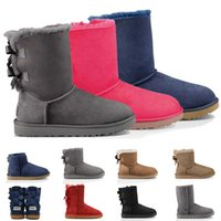 botas de bebé niña caen al por mayor-botas nuevas señoras de la plataforma de la moda de lujo botas de las mujeres del diseñador de nieve caen invierno de la piel del tobillo hasta la rodilla botas australianas muslo del bebé de alta Arco