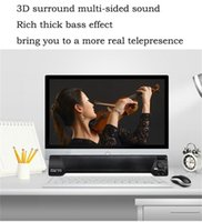 ledli tv kartı toptan satış-LP-09 TV Soundbar Bluetooth Hoparlör 10 W USB Stereo Hoparlör Desteği 3.5mm Aux TF Kart TV TV için LED Göstergesi Mikrofon Stereo ...