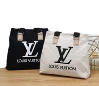 sutyen çantaları siyah toptan satış-Yeni moda rahat omuz çantası tuval fermuar büyük kapasiteli çok fonksiyonlu çanta moda siyah mumya alışveriş çantası