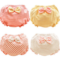 Wholesale baby girl underpants resale online - 0 T Baby shorts summer bow knot cotton dot underpants kids girl thin pp pants for children gifts top quality