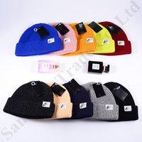 hop şekerleme toptan satış-NK Marka Beanie Genç Spor Örgü Şapka Kapaklar Lüks Tasarımcı Erkek Kadın Bonnet Gorro Şeker Renk Kafatası Kap Hip Hop Tığ Şapka C9602