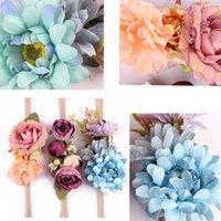 kız 3adet çiçek dantel toptan satış-3 ADET Sevimli Çocuk Bebek Kız Toddler Dantel Çiçek Saç Şapkalar Kafa Aksesuarları