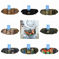 Wholesale multi functional outdoor waist bag resale online - Fashion new multi functional running waistband outdoor sports kettle waistband Hot selling camouflage mobile phone waist bag colors ZZA932
