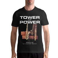 tour de musique achat en gros de-Tour de puissance - Qu'est-ce que Hip Men Fashion Band Music Sleeve Music T-Shirts Black