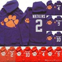 Wholesale clemson jersey deshaun watson for sale - Group buy NCAA Clemson Tigers Hoodie Jersey Watkins Howard DeShaun Watson Wayne Gallman II Ben Boulware Football Sweatershirt Jerseys