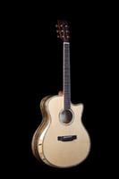 Wholesale guitar bindings online - 41 inch acoustic guitar maple abalone binding mahogany fingerboard EQ pickup custom service