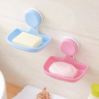 Wholesale bathroom soap baskets for sale - Group buy New Kitchen Tools Bathroom Accessories Soap Holder Two Layer Suction Holder Soap Dish Storage Basket Box Stand