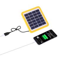 carregador usb lâmpadas venda por atacado-Kkbol 5 v 1.8 w bateria de iões de lítio início carregador de painel solar com porta usb para lâmpada de telefone celular
