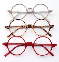 ingrosso occhiali ambra-Nuovo ultra-light Retro rotonda flessibile unisex Nero Ambra Grigio Rosso Il monocolo Occhiali Eyewear RX prescrizione 3019