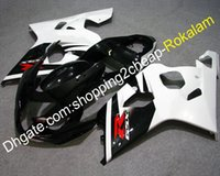 gsx r plasticos al por mayor-Cubiertas para Suzuki GSX-R 600/750 2004 2005 Piezas GSXR600 GSXR750 Blanco Negro Plásticos plásticos Carenados K4 04 05 (Moldeo por inyección)