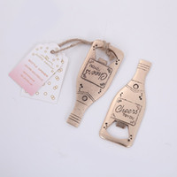 Wholesale champagne openers resale online - Champagne Beer Openers Personalized Corkscrew Wedding Favors Giveaways Gift Eco Friendly Bottle Opener Fashion New Pattern tb J1
